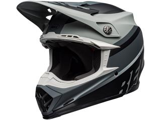 BELL Moto-9 Mips Helm Prophecy Matte Grijs/Zwart/Wit Maat M