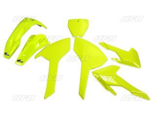 Plaques latérales UFO jaune fluo Honda CRF450R/RX - 78103982