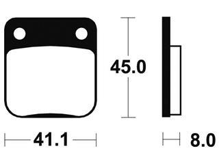 Plaquettes de frein TECNIUM ME36 organique - ffdf7839-dc07-48b2-8c2c-b21e31e30a5a