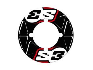 S3 Rear Sprocket Stickers 38/39/40 Teeth Red