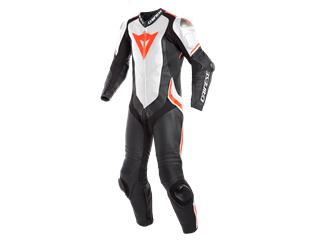 Leather Suit Dainese Laguna Seca 4 1Pc Perf. Blk/Wht/Fluo Red Sz 46