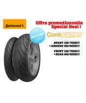 2 Sport-Touring Tire Pack CONTINENTAL ContiMotion (120/70 ZR 17 + 160/60 ZR 17)
