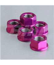 Porca de coroa 10mm x 1,25 (6 pack) alumínio violeta Pro-Bolt SPN10P