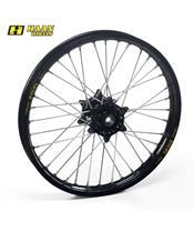 HAAN WHEELS Complete Rear Wheel 18x1,85x36T Black Rim/Black Hub/Silver Spokes/Silver Spoke Nuts