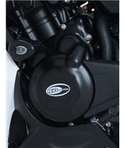 Couvre carter gauche R&G RACING noir Honda CB500 R/X/F