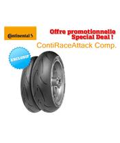 Racing Tyre Pack CONTINENTAL ContiRaceAttack Comp. (120/70 ZR 17 Medium + 160/60 ZR 17 Medium)