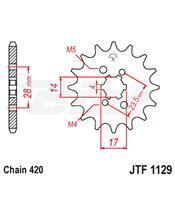 Piñon JT 1129 de acero con 12 dientes