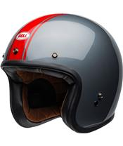 BELL Custom 500 DLX Helm Rally Gloss Gray/Red Größe