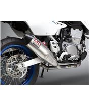 Linea completa escape doble Yoshimura RS-4, Silencioso de aluminio, tapa carbono, Suzuki DR-Z400S/SM