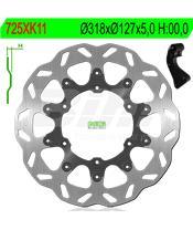 Disco de travão NG kit ondulado725XK11 Ø320 x Ø127 x 5