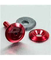 Arruela de alumínio escareada M5 (19mm ØExt.) vermelha LWAC5R
