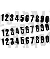Numero de carrera 0 para caballete ART 10x5cm