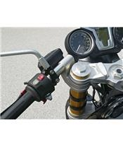 LSL Tour Match Lowered Clip-on Bars Silver BMW R1200 Nine T