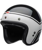 Casque BELL Custom 500 DLX Streak Gloss Black/White