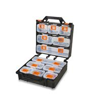Maletín organizador BETA con 12 compartimentos extraíbles (vacío)