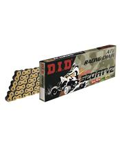 D.I.D 520 ATV2 Ketting Goud/Zwart 104 Schakels RJ Clip