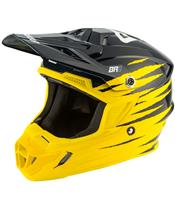 Capacete Answer AR1 PRO GLO Amarela/Azul escura/Branca, Tamanho XL