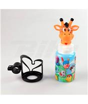 Suporte para garrafas guidão+garrafa+buzina Girafa