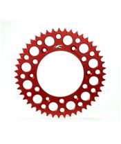 RENTHAL Ultralight™ Rear Sprocket 51 Teeth Alu Self-Cleaning 520 Pitch Type 154U Red