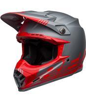 BELL Moto-9 Flex Helm Louver Matte Gray/Red Größe