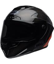 BELL Race Star Flex DLX Helm Carbon Lux Matte/Gloss Black/Orange Größe