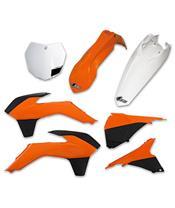UFO Plastic Kit OEM Color (13-14) Orange/Black/White KTM