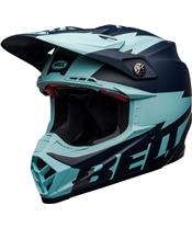 BELL Moto-9 Flex Helmet Breakaway Matte Navy/Light Blue