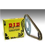 Kit chaîne D.I.D 428 type HD 14/51 (couronne standard) Yamaha TW125