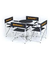 Continental set of 4 director's chairs and table