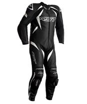 Combinaison RST Tractech EVO 4 CE cuir noir bandes blanches taille