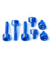 Kit parafusaria tampa reservatório Pro-Bolt alumínio TBMWB azul