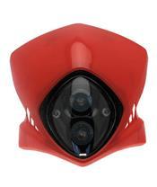 Faro con careta Bihr Viper rojo