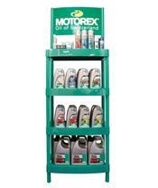 Présentoir MOTOREX métal 420x420mm 4 étagères
