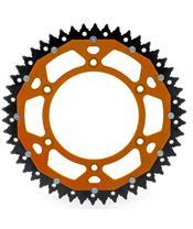 ART Kettenrad Dual 50 Zähne Aluminium/Stahl ultra-light Spritzschutz Teilung 520 Typ 897 orangefarben
