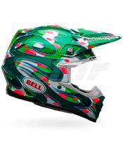 BELL HELMET MOTO-9 FLEX MCGRATH REPLICA GREEN 60-61 / SIZE XL