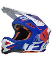 Casque UFO Diamond bleu/blanc/rouge