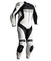 RST Tractech EVO 4 CE Race Suit Leather White/Black Size 3XL Men