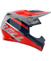 BELL Moto-9 Mips Helmet Prophecy Gloss Infrared/Navy/Gray