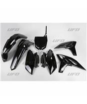UFO Plastic Kit Black Yamaha YZ250F