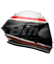 Casco Bell Race Star Formula Blanco/Rojo Talla L