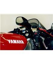 LSL Tour Match Raised Clip-on Bars Silver Yamaha YZF-R1