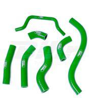 Kit tubos radiador Samco Kawasaki verde KAW-59-GN