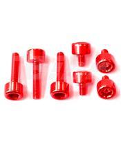 Kit parafusaria tampa reservatório Pro-Bolt alumínio TBMWR vermelha