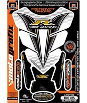 Protection de réservoir MOTOGRAFIX 4pcs blanc/noir/or Kawasaki