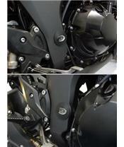 Insert de cadre gauche R&G RACING noir Kawasaki ZX10R/Z1000/R/SX