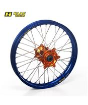 HAAN WHEELS Complete Rear Wheel 19x2,15x36T Blue Rim/Orange Hub/Silver Spokes/Silver Spoke Nuts