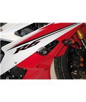 Tampons supérieurs Aéro R&G RACING noir Yamaha