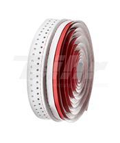 Fita de guiador Velo, em microfibra furada, vermelha/branca