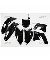 UFO Plastic Kit Black Kawasaki KX250F