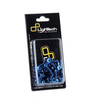 LIGHTECH License Plate Holder Screwing Set Anodized Cobalt Yamaha R1